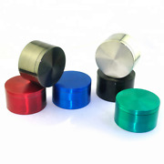 6x 4 Piece 50mm Metal Zinc Alloy Tobacco Herb Spice Grinder Crusher - 6 Colors