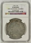 1799 Draped Bust Silver Dollar 1 Ngc Vf Details Cleaned Scratched 4144204-004