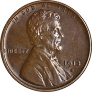 1913-s Lincoln Cent Nice Bu+ Superb Eye Appeal Strong Strike