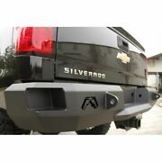 Fab Fours Ch99-w1250-1 Rear Bumper Premium Fabricated Steel Black For Chevy New