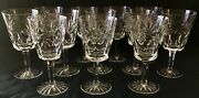 """Qty 12, Waterford Crystal Ashling Pattern Water Goblet. 6 7/8"""" Tall. Vtg"""