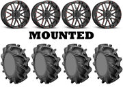 Kit 4 High Lifter Outlaw 3 Tires 38x9-22 On Msa M35 Bandit Red Wheels Pol