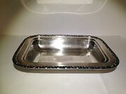 Bowl Dish National Brand Silverplate Silver On Copper 3c05 11 1/2 X 8 3/4