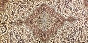 Stunning Muted Colors Antique 1920s Wool Pile Legendary Bunyan Rug 6and0397 X9and03910
