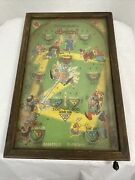 Antique Poosh-m-up Jr. Baseball Tabletop Pinball 4 In 1 Game 1930s