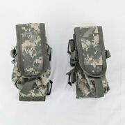 Tactical Tailor Three Mag Pouch Lot Of 2 W/ Malice Clips And Hook N Loop Molle