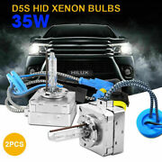 Pair Of D5s 35w Super White Xenon Hid Replacement Head Lamp Light Bulbs
