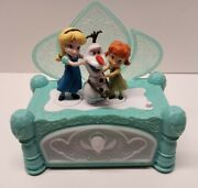 Disney Frozen Music Jewelry Box Elsa Olaf Anna Animated Moving Singing Tested