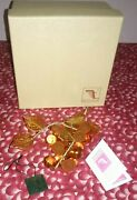 Italian Murano 6 Amber Glass Grapes Cluster With Box And Certificate