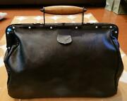 Julius Doctor Bag Vintage Collectible Leather Black Used Free Shipping From Jpn