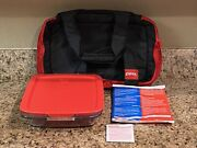 Pyrex Portables 4 Piece 9x13 C233 Casserole Dish Insulated Carrier Hot Cold Pack
