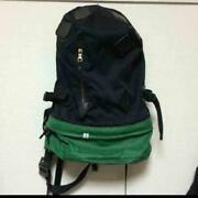 Visvim Backpack Hand Bag Summit Papoose Green Black White Men's From Japan Used