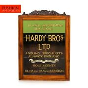 Antique 20thc English Angling Shop Display Cabinet, Hardy Brothers C.1910