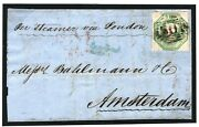 Gb Sg.55 Cover 1s Embossed Cover Rawtenstall Lancs 1851 Netherlands Candpound1900+ 160f
