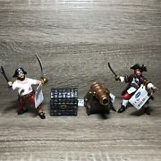 Papo 2004 Lot Of 2 Sailor/pirate Figures And Treasure Chess Cannon Model Toy 4
