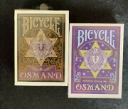 New Bicycle Osmand Gold Blue Rare 2 Decks Of Playing Cards Japan