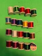 Gudebrod Fishing Rod Wrapping Thread Huge Lot Of 20 100 Yard Spools Many Colors