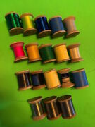 Gudebrod And Other Fishing Rod Wrapping Thread Huge Lot Of 18 Very Large Spools @@