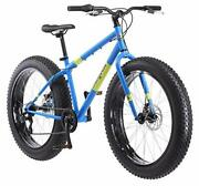 Mongoose Dolomite Mens Fat Tire Mountain Bike 26-inch Wheels 4-inch Wide Knobb