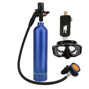 1l Empty Oxygen Cylinder Rebreather With Pure Metal Secondary Breathing Valve