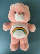 Care Bears Cheer Bear Rainbow Extra Large Plush Toy 2003 - Tested And Working ⭐️