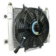 Bd Xtrude Transmission Cooler With Fan -10 Jic Male Connection Automatic Transmi