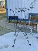 Antique Victorian Twisted Wire /iron Dictionary Bible Book Stand