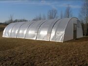 Quonset Greenhouse 16and039 X 16and039 - High Tunnel Cold Frame Kit - Free Shipping