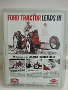 Ford Tractor Metal Sign