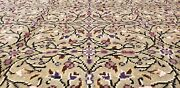 Exquisite Cr1930-1939s Antique Wool Pile Floral Patterned Bunyan Rug 6'4×9'8