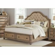 Bowery Hill King Storage Bed In Cream