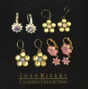 Joan Rivers Collection Crystal Flower Pierced Earrings - 4 Pairs