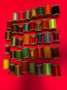 Gudebrod Fishing Rod Wrapping Thread Gigantic Lot Of 39 50 Yard And 1 Oz. Spools