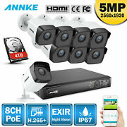 Annke H.265+ 8ch 4k 8mp Nvr Outdoor 5mp Video Poe Ip Camera Security Cctv System