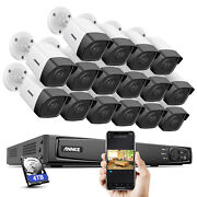 Annke 4k 8mp 16ch Nvr Poe Security Ip Camera System 5mp Audio Recording Outdoor