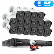 Annke Ultra Hd 16ch 4k 8mp Poe Nvr 16x 5mp Outdoor Security Ip Camera System Kit