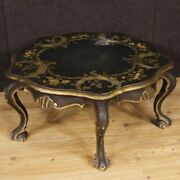 Venetian Coffee Table Living Room Furniture In Lacquered Wood Antique Style 900