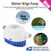 12vmarine Automatic Submersible Bilgewater Pump Fully Auto Float Switch Internal