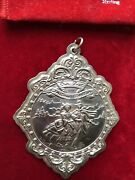 1990 Our First Christmas Medallion Towle Sterling Silver Ornament New In Box