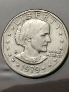 1979-p Susan B Anthony One Dollar Coin Circulated Uncertified