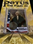 George Washington Potus The First 36 Hobby 1794 Large Cent 1/1 Coin Card