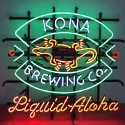 Neon Signs Gift Kona Brewing Beer Bar Pub Party Store Room Wall Display 32x24