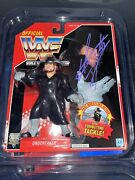 Wwf Signed Undertaker Hasbro Red Card W/jsa And Exact Proof Photo Wwe Rare
