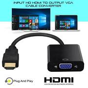 2500 Pcshdmi Male To Vga Female Video Cable Convert Adaptr For Pc Monitor 4k 3.0