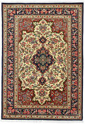 Fine Floral Oriental Rug 4and039x5and039 Ivory Hand-knotted Wool Pile