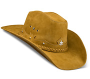 Cowboy Hat Western Genuine Leather Hats Beige For Womens Mens Stockman Zalupe