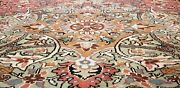 Beautiful Antique 1950and039s Natural Dye Wool Pile Armenian Hereke Rug 6and0397andtimes9and0399