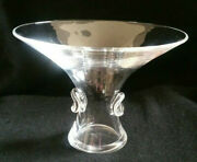 Steuben Signed Glass Bouquet Vase Designed By George Thompson