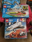 Lego City Space 60226 Mars Research Shuttle And 60254 Race Boat Transporter