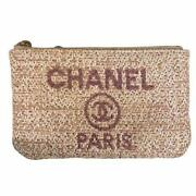 Mini Pouch Purse Coin Case Cruise Collection Deauville Pink Coco Mark